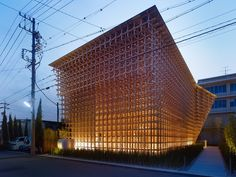 Construction of the GC Prostho Museum Research Center, by Kengo Kuma & Associates, is based on a traditional wooden toy from the Hida Takayama region of Japan