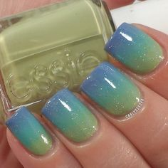 Gradient! Used Essie- Navigate Her & Where's My Chauffeur, Chinaglaze- Secret Peri-wink-le and INM- Northern Lights