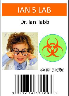 Welcome to A Boys Life!    Its a Mad Scientist Party! This cute personalized badge is perfect for the birthday boy! Personalize it with a pic! Black