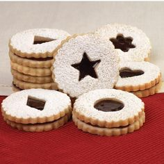 Wilton's Linzer Sandwich Cookies Recipe {the one that came with the cookie cutter set, but large enough to read! ;) }