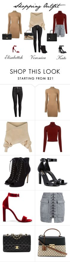 """Shopping Outfit"" by ghappyg on Polyvore featuring H&M, adidas Originals, WithChic, A.L.C., Yves Saint Laurent, Chanel and Gucci"