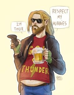 Marvel Thor finally became like Mythology Thor! Marvel Avengers, Marvel Jokes, Marvel Funny, Marvel Dc Comics, Marvel Heroes, Captain Marvel, Captain America, Funny Comics, Iron Man
