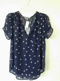 Kieraly Heart Print Short Sleeve Blouse. this color