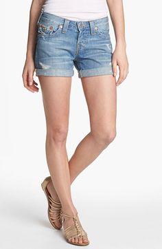 True Religion Brand Jeans 'Jayde' Denim Shorts (Wagoner) available at #Nordstrom