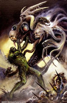 Original Comic Art:Covers, John Totleben - Original Cover Art for Swamp Thing #98 (DC, 1990).The modern successor to such masters of the bizarre as Hi... Image #1
