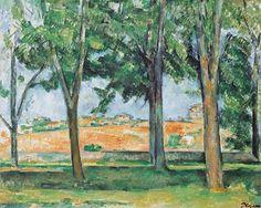 Paul Cézanne 1885c Chestnut Trees at the Jas de Bouffan oil on canvas 65 x 81 cm Kunstmuseum Winterthur Post Impressionist
