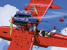 How to describe Miyazaki's wonderful 1992 animation, 'Porco Rosso'? Porco is a WWI fighter pilot who spends his days getting in to intricate dogfights with air Pixar Movies, Cult Movies, Hayao Miyazaki, Famous Animators, Studio Ghibli Films, Frame By Frame Animation, Japanese Film, Ghost In The Shell, Illustrations