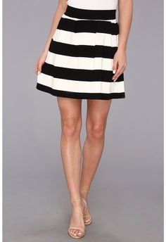 White and Black Horizontal Striped Skater Skirt by French Connection. Buy for $49 from 6pm.com