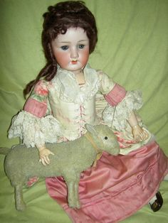 Beautiful large, Heubach Koppelsdorf 250, antique bisque doll with corseted gown  | eBay