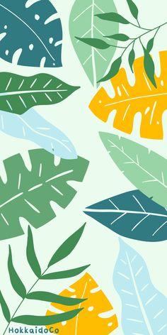 Minimal Tropical Palm Leaves Wallpaper