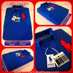 Ralph Lauren Polo shirt birthday cake.