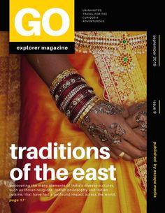 Black Yellow Geometric Travel Sans Serif Magazine Cover