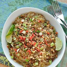 Thai Recipe: Spicy Glass Noodles with Crispy Pork (Yum Woon Sen) — Recipes from…