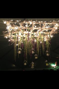 frames greenery lighting hanging candles … nailed it!
