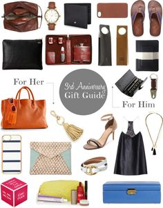 3rd wedding anniversary gift guide