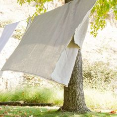 Nothing nicer than getting into a bed that has just been made from sheets drying on the line!
