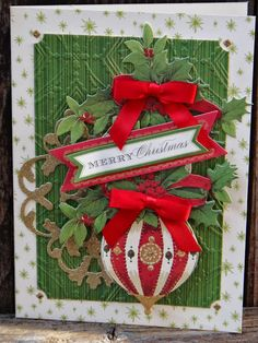 Anna Griffin Holiday Trimmings  Card #1