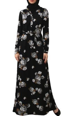 Chic Long Sleeve Modest Muslim Dresses Abayas and Jilbabs ...