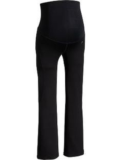 """Best maternity yoga pants. Most maternity """"yoga"""" pants are really lounge pants in disguise and are cotton blends.  These don't have binding waistbands (for those of us who really do yoga in them) and they are good, athletic fabric.  Just order them about 2 sizes too big, they run very small since they are """"compression"""" pants.  Good job Old Navy."""
