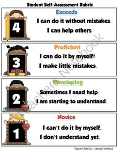 Student Self-Assessment Rubric from Teachers Take Out on TeachersNotebook.com (2 pages)  - Free Self-Assessment Rubric