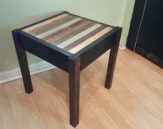 Reclaimed wood concealment end table/side table.  Hand Crafted Custom Woodworking and Décor by HoosierWoodbox