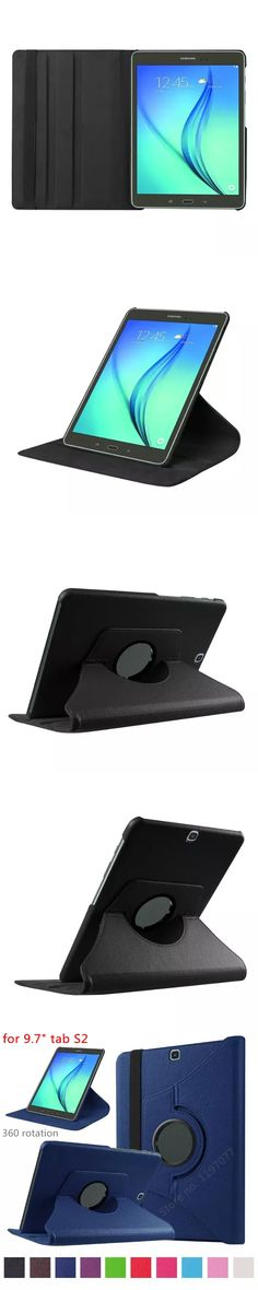 """nice quality 360 rotation smart case for samsung galaxy tab s2 9.7"""" case cover  wake sleep stable stand support pu leather skin"""