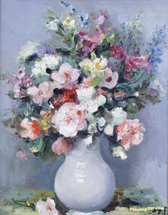 Wild Flowers In A Vase Artwork by Marcel Dyf Hand-painted and Art Prints on canvas for sale,you can custom the size and frame