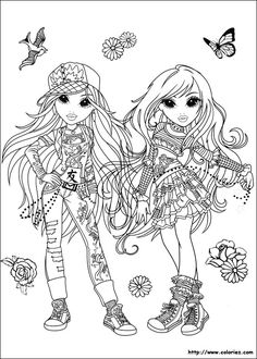 Moxie Girlz Coloring Pages Book