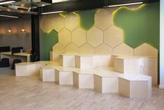 "Seedrs, a London based equity crowd-funding platform that allows people to invests online in startups via equity crowdfunding, recently moved into a new headquarters in London, England. ""The Scandinavian inspired office . Banquette Seating In Kitchen, Corner Seating, Cafe Seating, Booth Seating, Public Seating, Floor Seating, Office Seating, Outdoor Seating Areas, Seating Plans"