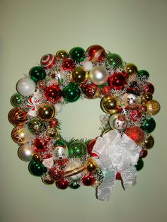 Christmas wreath I made for our kitchen