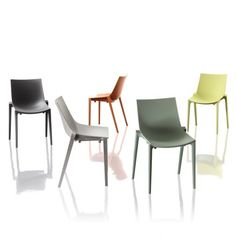 The Magis Zartan basic chair is a collaboration between Philippe Starke and Eugehi Quitllet. Made from Polypropylene and glass fibre the chair is durable and suitable for both indoor and outdoor use. Available in five muted colours. Philippe Starck, Office Chairs For Sale, Velvet Wingback Chair, Compact Table And Chairs, Stacking Chairs, Contemporary Dining Chairs, Kitchen Chairs, Muted Colors, Modern
