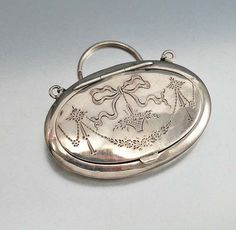 Antique Art Deco Finger Compact Locket Sterling Silver by boylerpf