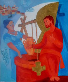 Jésus et la Samaritaine. Monastère 'Ste Lioba'