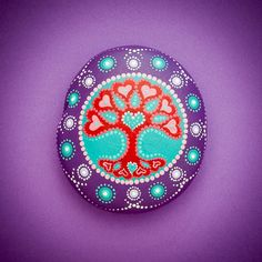 Mandala Stone 'Tree of Love'