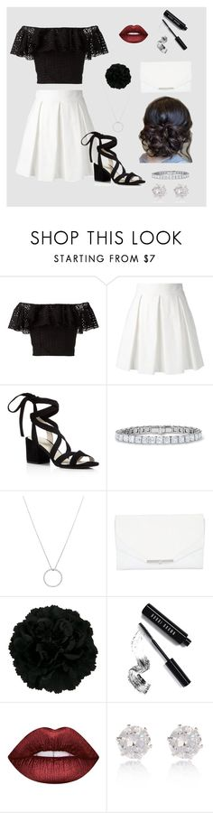 """Simply Sophisticated"" by monacella ❤ liked on Polyvore featuring Philosophy di Lorenzo Serafini, Boutique Moschino, Kenneth Cole, Roberto Coin, Khirma Eliazov, Bobbi Brown Cosmetics, Lime Crime, River Island, blackandwhite and ruffles"