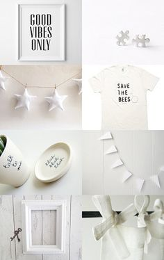 ★★★ by Anna on Etsy--Pinned with TreasuryPin.com   white   star garland   etsy shops