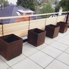 Planter boxes by Architectural Elements. ArchEle.com