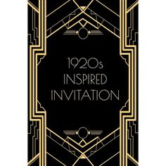Great gatsby invitation templates blank projects to try invitation templates black gold weddings 1920s party gatsby stopboris Image collections