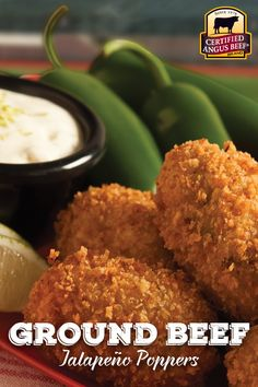 Ground Beef Jalapeno Poppers are crisp delicious bites of flavor!