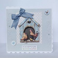 Chicken coup! New stock from docrafts. My fave pack to be creative with