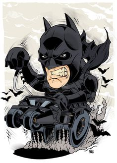 Dark Batman and Batmobile by Dave... www.blackdave.net