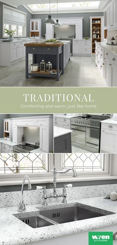 Design your dream traditional style kitchen with our FREE kitchen planner. Open Plan Kitchen Living Room, Kitchen Family Rooms, Home Decor Kitchen, Interior Design Living Room, Traditional Style Kitchen Design, Traditional Kitchens, Luxury Kitchens, Home Kitchens, Küchen Design