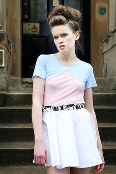 Pink and Blue Chevron Tee £35 Leather Dollies Circle Skirt £35  Model: Nikki Vance from Superior Photographer: Daniela Flores MUA: Heather Snowie Hair: Heather Nelson