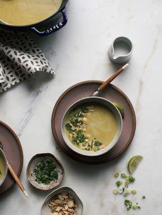 Roasted Cauliflower Tumeric Soup
