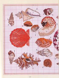 Cross Stitch Sea, Cross Stitch Charts, Cross Stitch Patterns, Beading Patterns, Embroidery Patterns, Crochet Patterns, Cross Stitching, Cross Stitch Embroidery, Graph Design