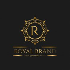 Logo Luxury with Golden Color Premium Vector Lettering Design, Branding Design, Alphabet Tattoo Designs, Brewery Logos, Royal Logo, Rooster Painting, Golden Logo, Jewelry Logo, Salon Business Cards