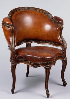 Desk Chair, about 1735, Attributed to Etienne Meunier. J. Paul Getty Museum.