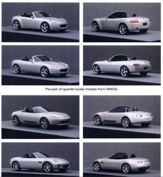 OG | 2006 Mazda Miata / MX-5 Mk3 | Quarter-scale clay proposals Mazda Miata, Automotive Design, Dream Cars, Clay, Design Concepts, Proposals, Inspiration, Motorbikes, Biblical Inspiration