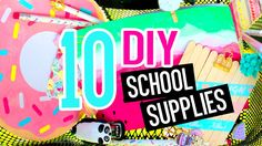 10 DIY Back To School Supplies You NEED To Try! With SARA BEAUTY CORNER! Diy Crafts For Teens, Easy Diy Crafts, Diy For Kids, Diy Back To School Supplies, School Supplies Organization, Decorate School Supplies, Diy Supplies, Diy Beauty Hacks, Hacks Diy