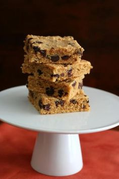 Peanut Butter Chocolate Chip Blondies - Low Carb, Gluten Free